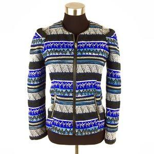 Bar III Tweed Zip Up Blazer Jacket Size Small